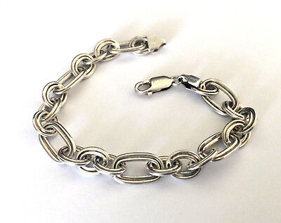 Stapmed Sterling Silver 925 Italy Link Bracelet 7.5'' An Indispensable Sovereign Remedy For Home Precious Metal Without Stones