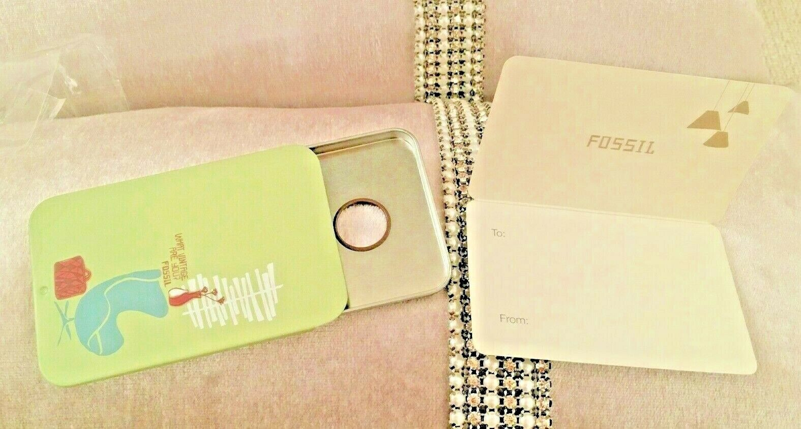 Fossil Card Holder SLIDE OPEN Money Wallet- WITH GIFT TAG