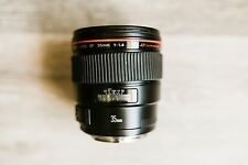 USED Canon EF 35mm f/1.4 L USM Lens - Working, manual focus slips, signs of wear