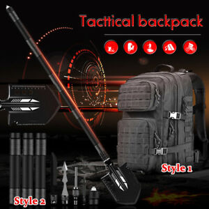 Military Folding Shovel Survival Tactical Backpack Outdoor Camping Hunting Tool
