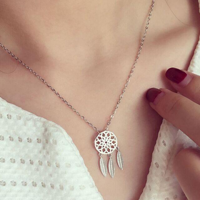 Gypsy Retro Dream-catcher Feather Pendant Necklace Tassel Women Elegant Boho