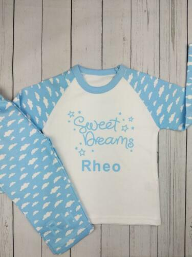 Personnalisé Sweet Dreams personnalisé pyjamas enfants, Baby, toddler, unique, cadeau