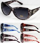 New DG Eyewear Womens Rhinestones Sunglasses Designer Vintage Fashion Retro Wrap