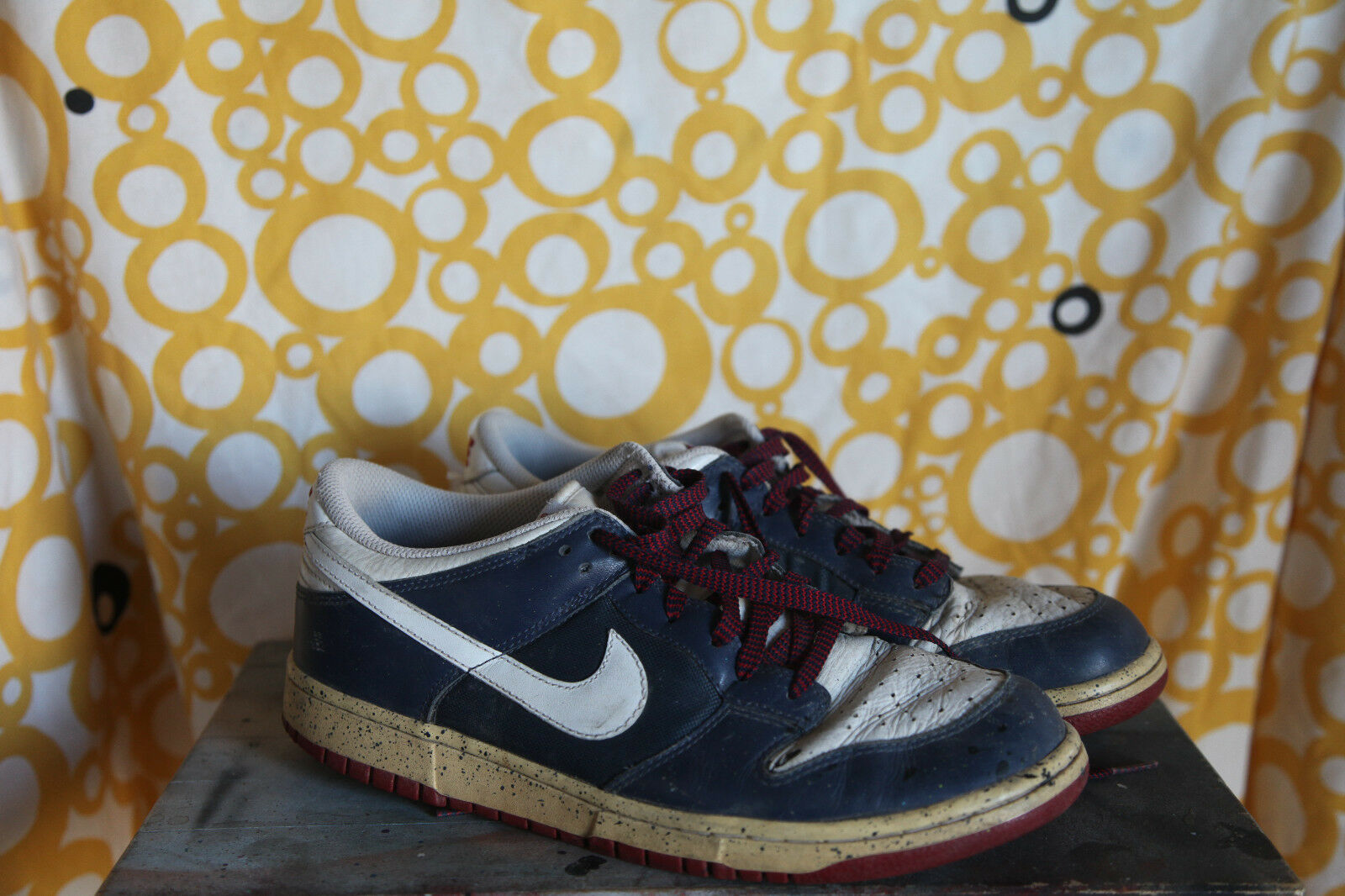 Nike Dunk US Low Navy Blue/White Sz US Dunk 9,5 Special Edition 5c7233