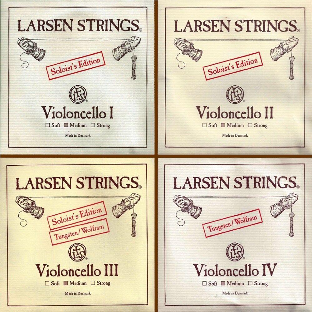 Larsen Soloist ein D G   Wolfram C 4 4 Cellosaiten Kombinationsstrings Set