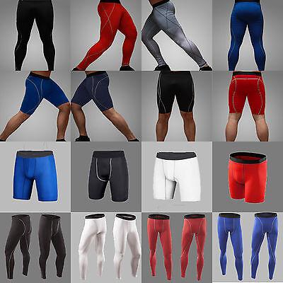 Mens COMPRESSION Base Layer Thermal Shorts Pants Sports Long Leggings Underwear