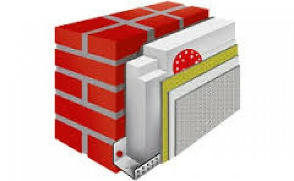 WDVS Komplettpaket, EPS  WLG 035/140 mm für 100m² Fassadendämmung, Aussendämmung