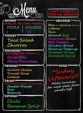 Menu Meal Planner Dry Erase Magnetic for Refrigerator. 3 YEAR WARRANTY - MONDAY