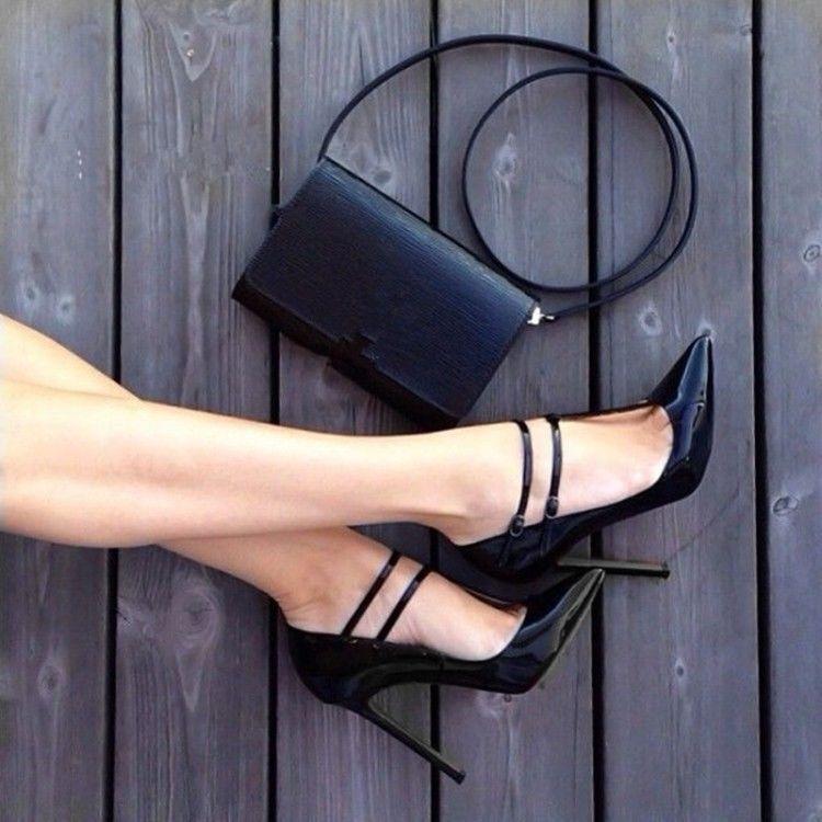 Zapatos de fiesta para Mujeres Elegante Zapato Taco en Alto Puntera en Taco Punta Hebilla Bombas informal c210b8