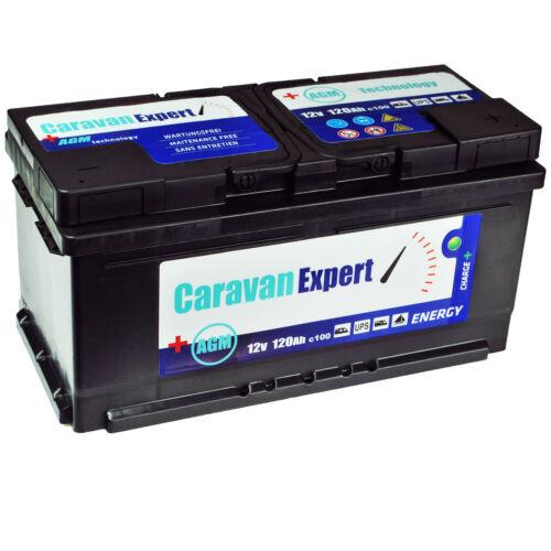 120Ah AGM Caravan Wohnmobil Wartungsfrei Batterie STATT 110Ah 100Ah GEL