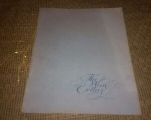 THE WINE CELLAR Downtown Toledo Ohio vintage RESTAURANT MENU 1970's antique OLD!