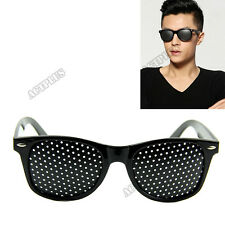 Anti-fatigue Vision Care Stenopeic Pinhole Glasses  Eyesight Improver Black NEW