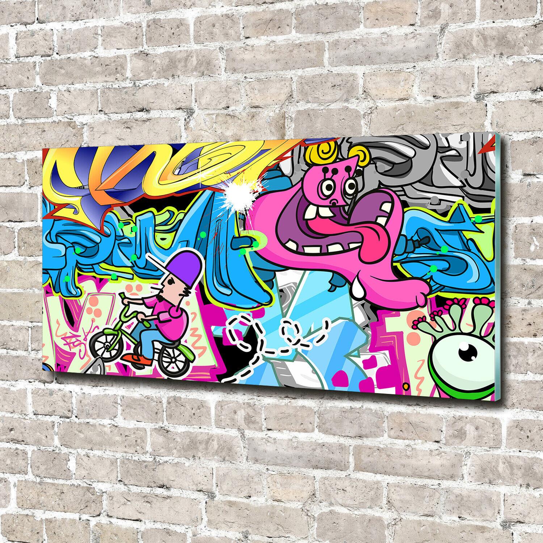 Acrylglas-Bild Wandbilder Druck 140x70 Deko Teenager Graffiti