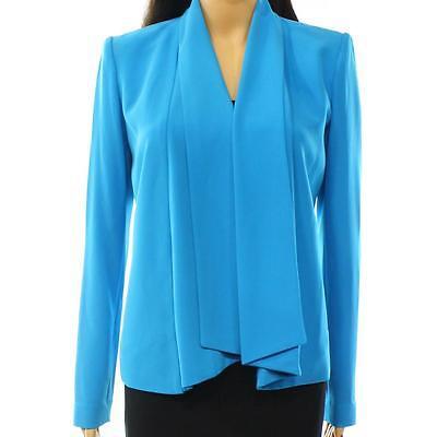 1069-00 Calvin Klein Cardigan Da Donna Flyaway Blazer Giacca Blu Taglia 4 $ 139