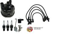 Ford Tractor Ignition Tune Up Kit 2000 3000 4000 Wires Plugs Points Cap Rotor