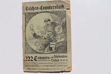 23697 Taschen Commersbuch Studenten Lieder um 1900