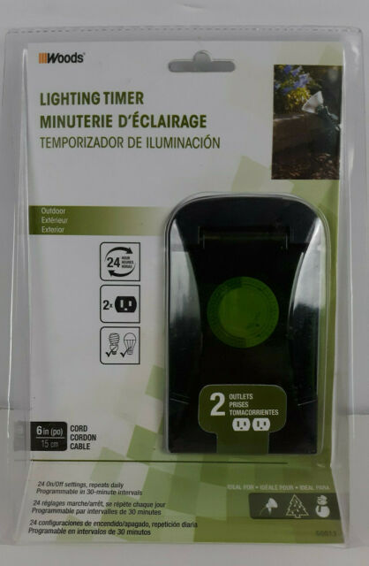 Woods 50011 Outdoor 24-Hour Mechanical Outlet Timer Box