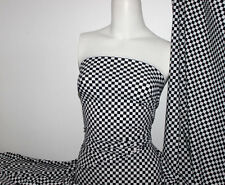 Checkerboard Print Nylon/Spandex 4 way stretch Matt Finish Fabric