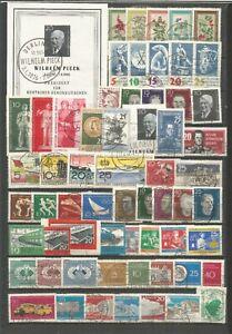 DDR 1960  gestempelt  kompletter Jahrgang+ Bl-Marke +alle Zusammendrucke + 5er