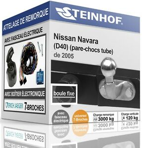 ATTELAGE-fixe-NISSAN-NAVARA-D40-de-2005-FAISC-UNIV-7-broches-COMPLET