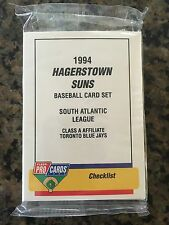 1994 Hagerstown Suns Minor League Baseball Team Set Toronto Blue Jays