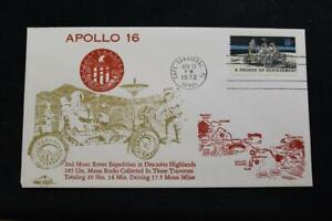 Espacio-Cubierta-1972-Maquina-Cancelado-Apolo-16-2ND-Luna-Rover-Exped-Orbit