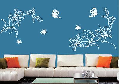 Wandtattoo wandtatoo Blumen Blumenranke Wallbild wandaufkleber pf14