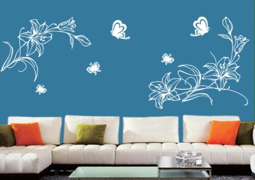 pf14 Wandtattoo wandtatoo Blumen Blumenranke Wallbild wandaufkleber