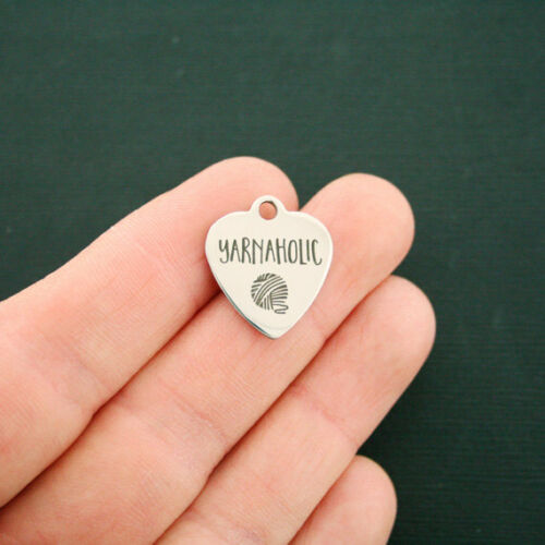 Yarnaholic BFS1623 Quantity Options Knitting Stainless Steel Charm