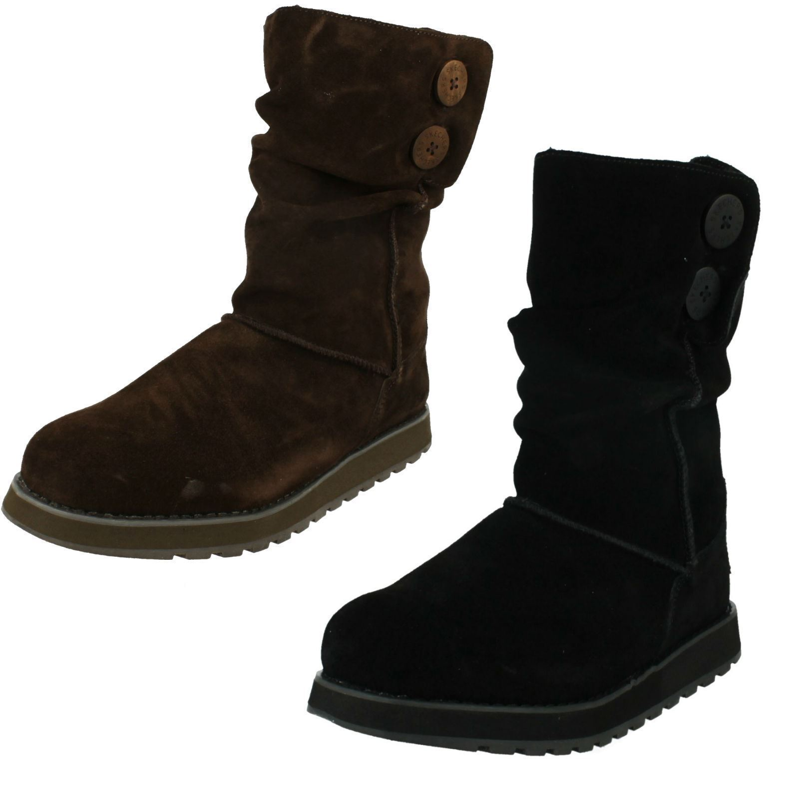 Donna Skechers 47221 Ricordo - Freezing Temps Camoscio Casual Stivali Metà