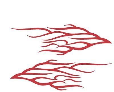 SIDE FLAMES DECALS #EXF23 VINYL GRAPHIC CAR TRUCK  SUV SEMI  FIRE VAN  BEAUTIFUL
