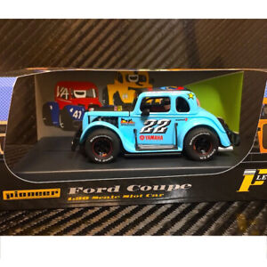 Pioneer-P063-Legends-Racer-039-34-Ford-Coupe-Blue-22-Slot-Car-1-32-Scalextric-DPR
