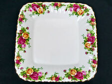 OLD COUNTRY ROSES RARE, SQUARE SANDWICH PLATE, VERY GOOD CONDITION, ROYAL ALBERT