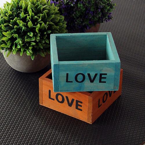 Carré en bois Plante Fleur Lit Pot Boîte Jardin Planteur stockage organisateur G