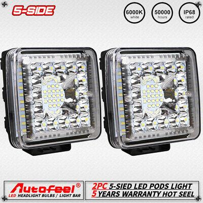 4x 12V//24V Flood LED Light for Car Truck Road Assistance Vehicle 18W Work Lamp