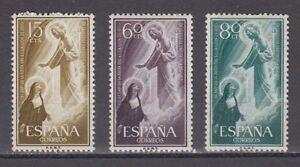 SPAIN-ANO-1957-MNH-NUEVO-SIN-FIJASELLOS-ESPANA-EDIFIL-1206-08-JESUS-Y-VIRGEN