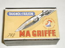 ANCIENNE BOITE DE PLUMES BAIGNOL & FARJON MA GRIFFE 742