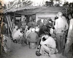 WW 2 Mariana Island of Saipan-Marine General Holland M. Smith & Staff Photo