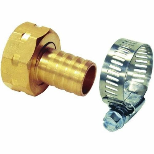 """HEAVY DUTY METAL FEMALE HOSE REPAIR END FOR 1//2/"""" HOSE  WITH CLAMP 10 Pack"""