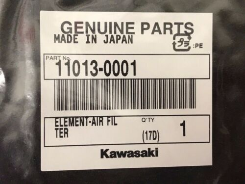 2003-2013 Kawasaki Prairie 650 Brute Force Air Filter Element 11013-0001 OEM ATV