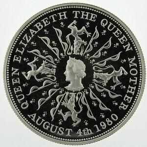United-Kingdom-SILVER-coin-25-pence-034-Elizabeth-II-Queen-Mother-034-1980