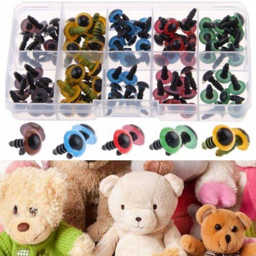 Color Eyes Bear Doll Animal Make Soft Toy DIY 100pcs Plastic Safety Black