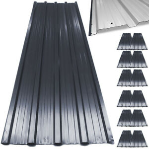 12x-Metal-Roof-Sheets-Corrugated-Garage-Shed-Profile-Galvanized-Roofing-129x45cm