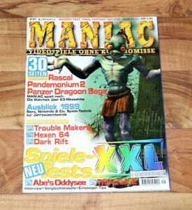 Agressif 1997 Old Games Magazine Oddworld Abe's Oddysee Time Crisis Sorcières 64 Pandemonium 2-afficher Le Titre D'origine CaractéRistiques Exceptionnelles