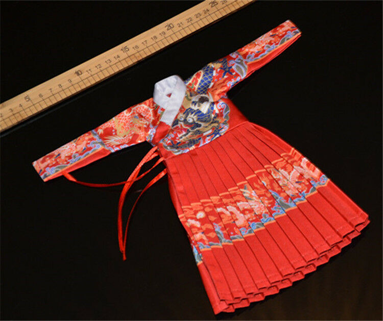 1 6 Scale Red Flying Cloth Suit Set Ming Dynasty For 12  Ancient Soldier Figure