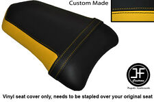 DESIGN 2 BLACK & YELLOW VINYL CUSTOM FITS DUCATI 999 749 REAR PILLION SEAT COVER
