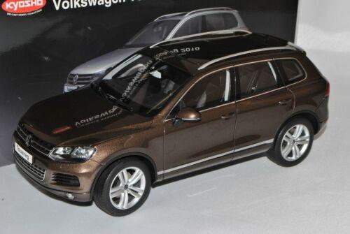 VW Volkswagen Touareg II 2 store à partir de 2010 marron metallic 1//18 KYOSHO modèle voiture...