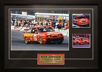 Dick Johnson Ford Sierra Rs500 Signed Framed Bathurst Motor Racing Memorabilia