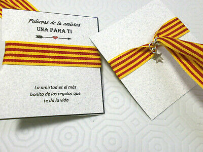 "Pulsera /""  Cataluña /"" en tela 1cm sept. ajustable"