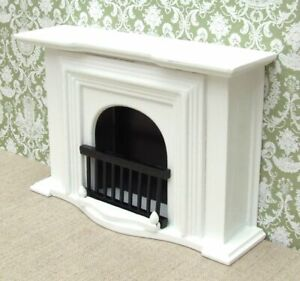 1:12 Dolls House Large White Georgian Fireplace